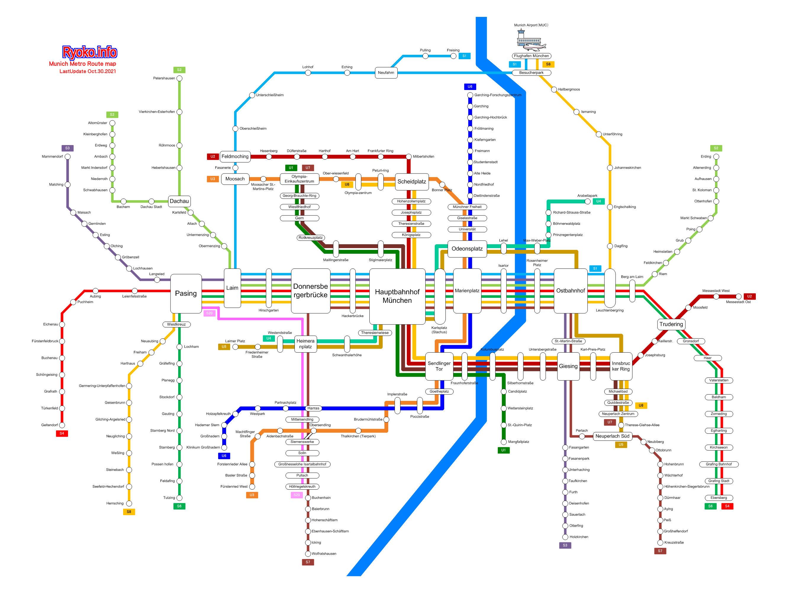 Munich Train Route map